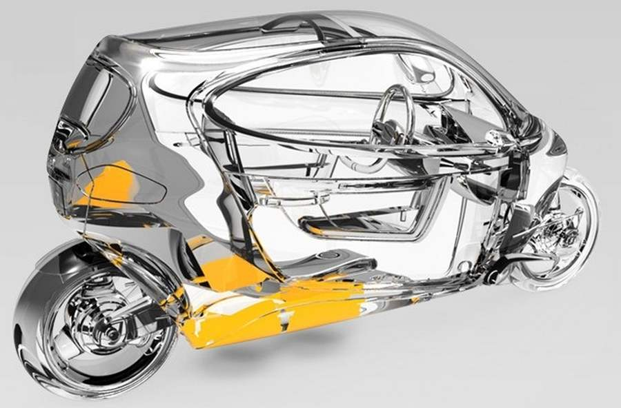 electric motorcycle enclosed - photo #33