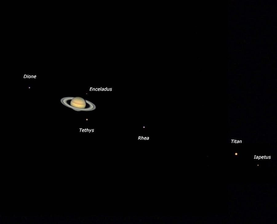 The 6 Moons of Saturn