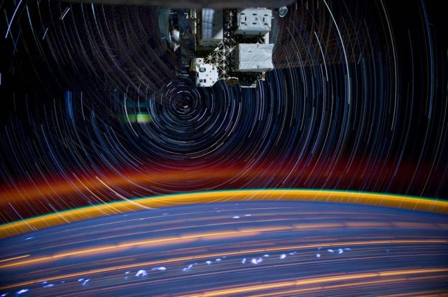 Composite space images from ISS