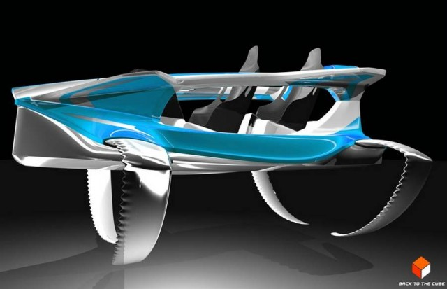 Quadrofoil electric hydrofoil