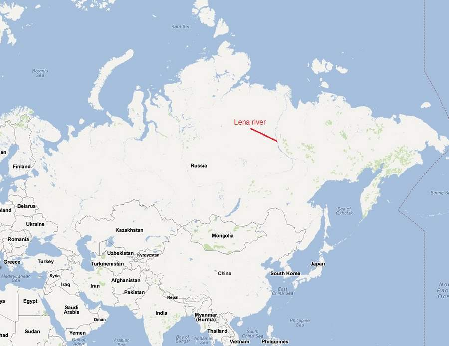 Toxic Mercury In The Arctic WordlessTech - Lena river on world map