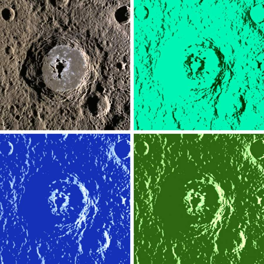 Warhol crater on Mercury