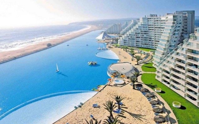 Crystal Lagoon at the San Alfonso del Mar resort in Chile