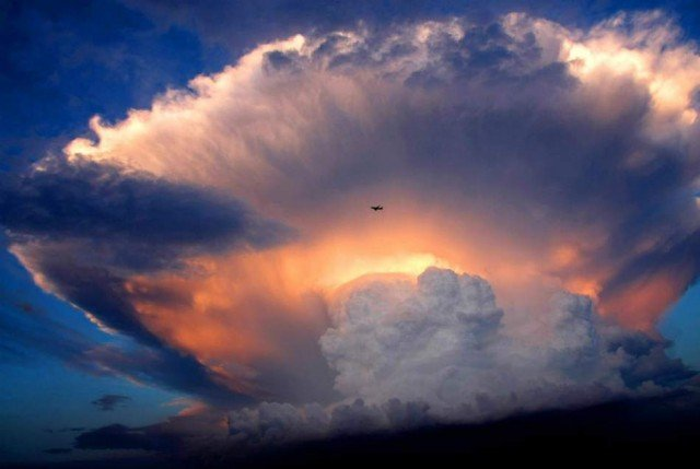 A cloud like a nuclear explosion