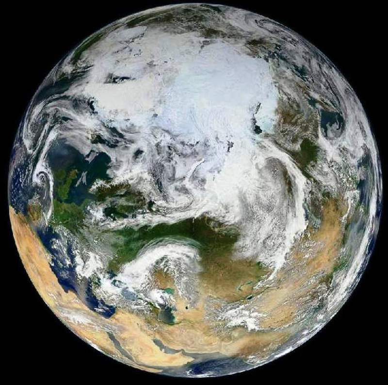 Blue Marble - Arctic View