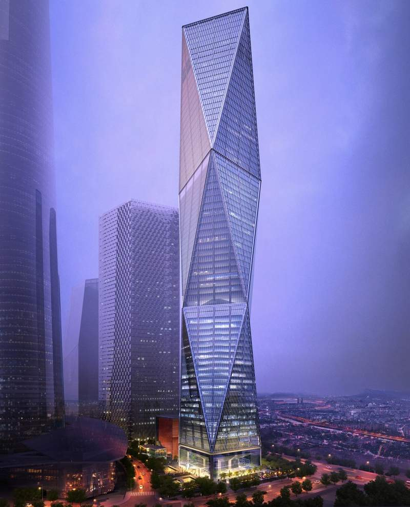 Diagonal Tower by SOM (11)