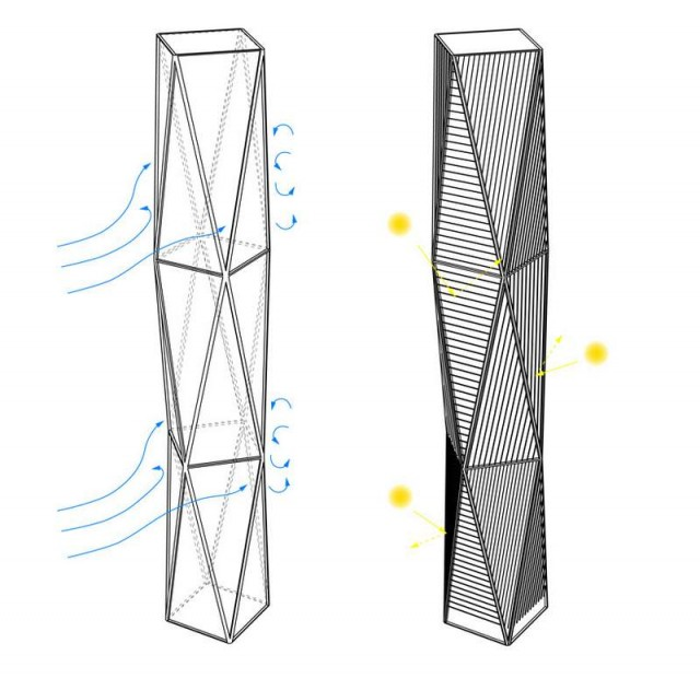 Diagonal Tower by SOM (1)