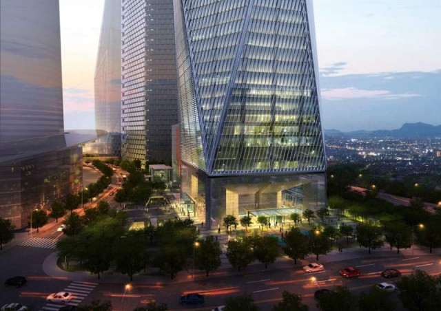Diagonal Tower by SOM (10)