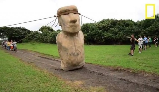 "Easter Islanders may have used ropes to ""walk"" the moai"