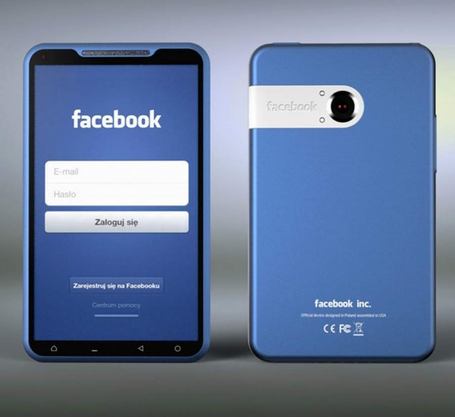 Facebook Bluephone concept by Michal Bonikowski