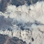 Fires in Wyoming Range from Space