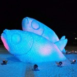 Gigantic Fish Sculptures made from Recycled Bottles