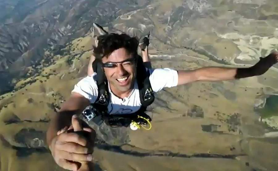 Google's Project Glass- Skydiving demo