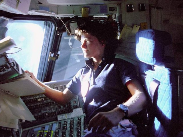 Sally Ride, mission specialist on STS-7