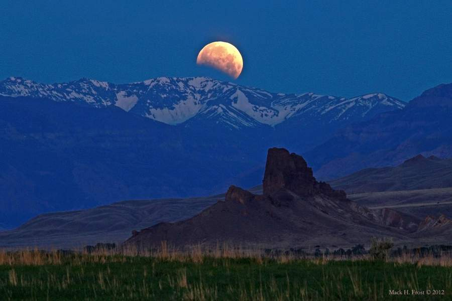 Lunar Eclipse over Wyoming