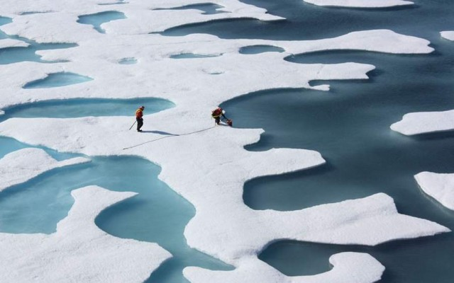 The crew of the US Coast Guard Cutter Healy, in the midst of their ICESCAPE mission