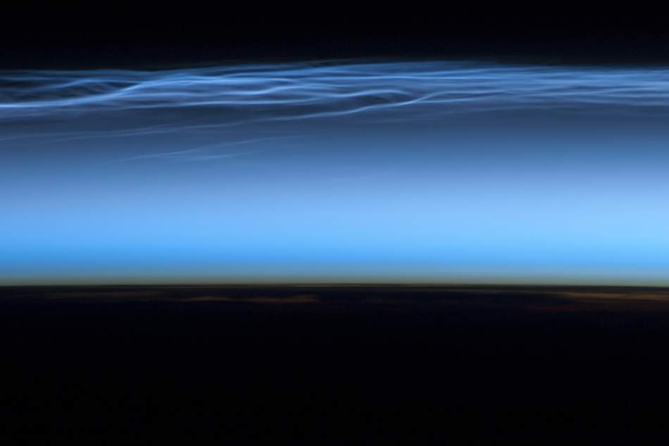 Noctilucent Clouds as seen from the ISS