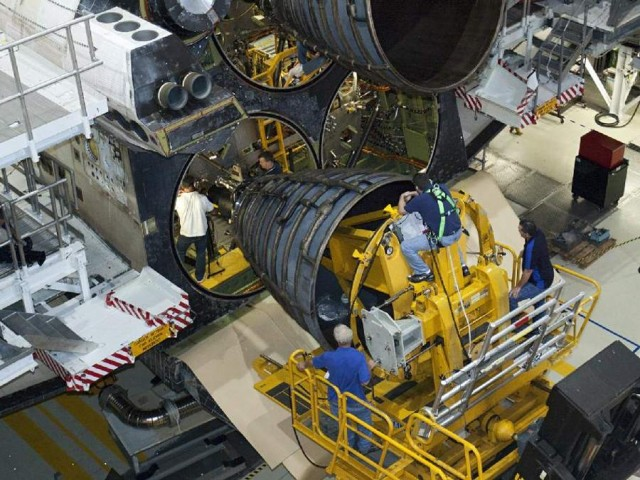 Replica Engines for Atlantis (RSME), in Orbiter Processing Facility