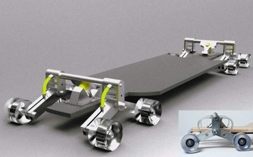 Stair Rover- Skateboard that can go down stairs