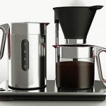 Svart Manuell coffee machine