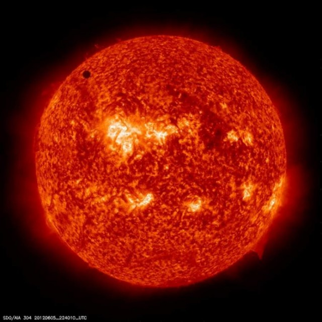From the Solar Dynamics Observatory: firt image of Planet Venus transiting the Sun