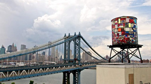 Watertower in Brooklyn by Tom Fruin