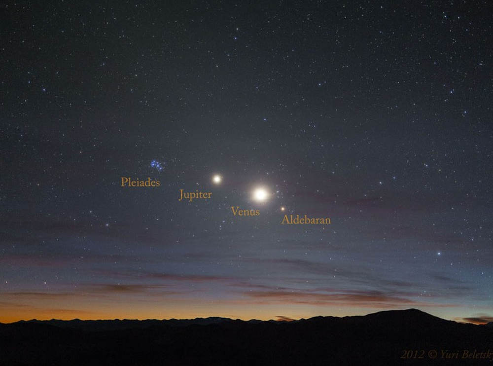 A Morning Line Of Stars And Planets