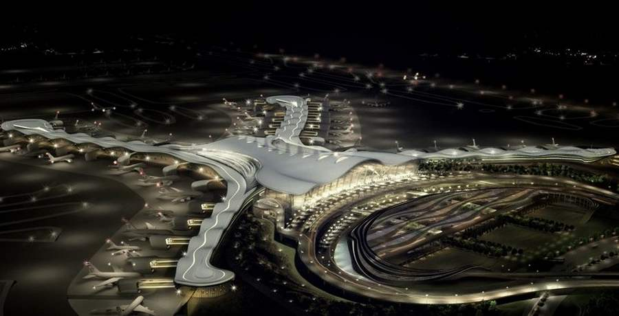 Abu Dhabi International Airport Midfield Terminal by KPF Architects (1)
