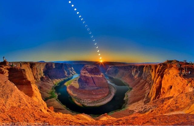 Annular Solar Eclipse at Horseshoe Bend