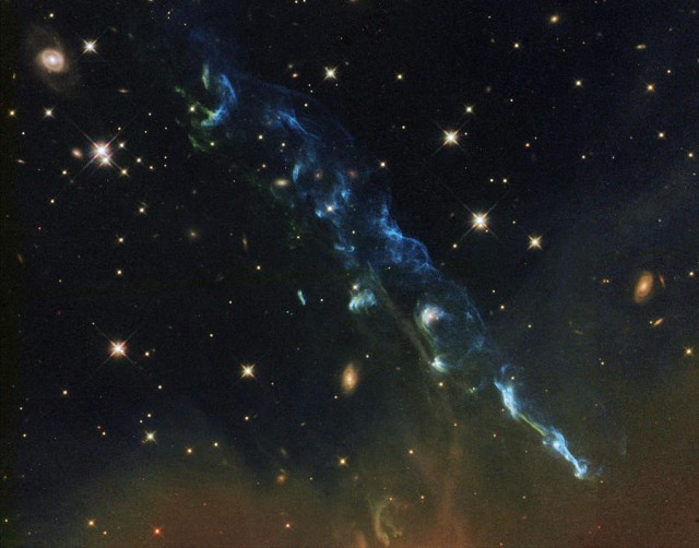 Cosmic Skyrocket - Herbig-Haro by NASA, ESA, and the Hubble Heritage Team