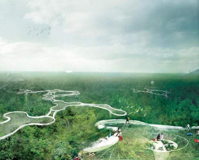 Explorative Canopy Trail wins the 2012 Foster - Partners Prize (4)