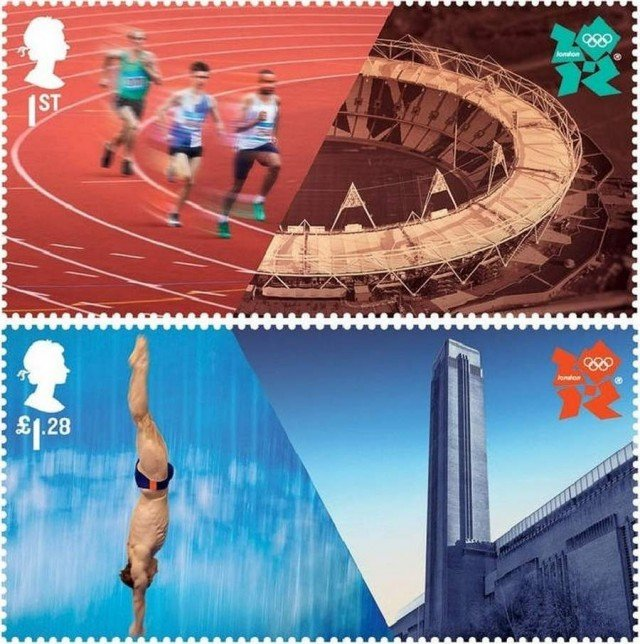 London 2012 Olympics stamps by Hat-trick