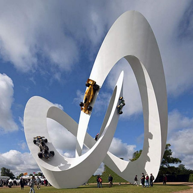 Lotus Sculpture at Goodwood Festival by Gerry Judah