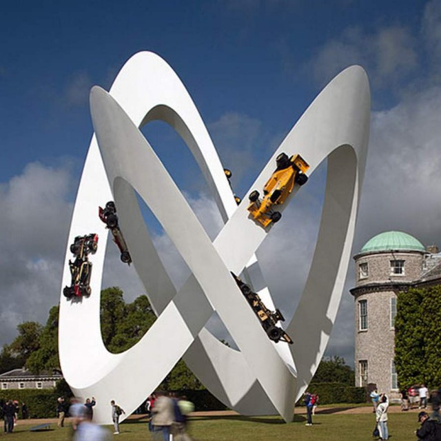 Lotus Sculpture at Goodwood Festival by Gerry Judah (3)