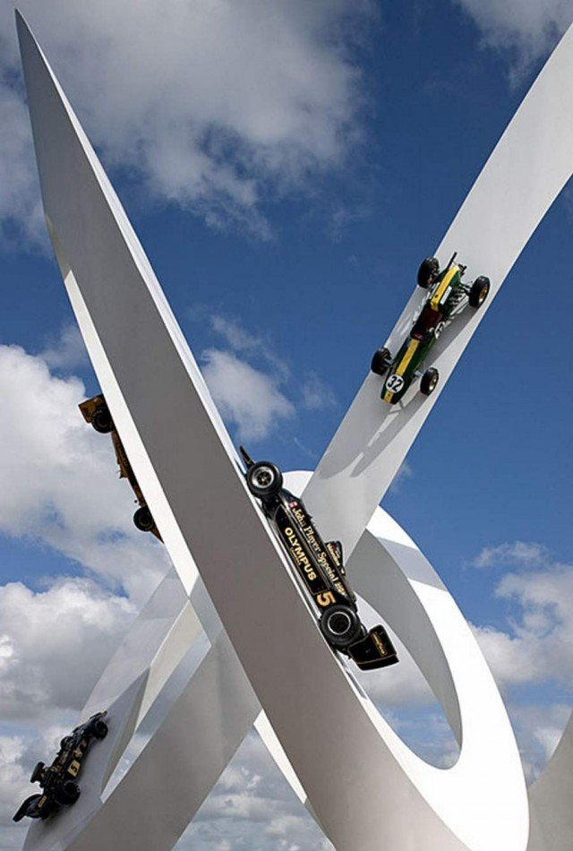 Lotus Sculpture at Goodwood Festival by Gerry Judah (1)