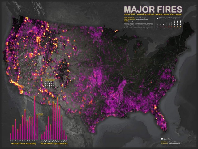 Map shows 11 years of major US Fires