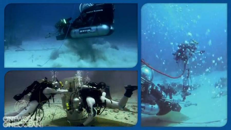 Nasa trains underwater at aquarius 5