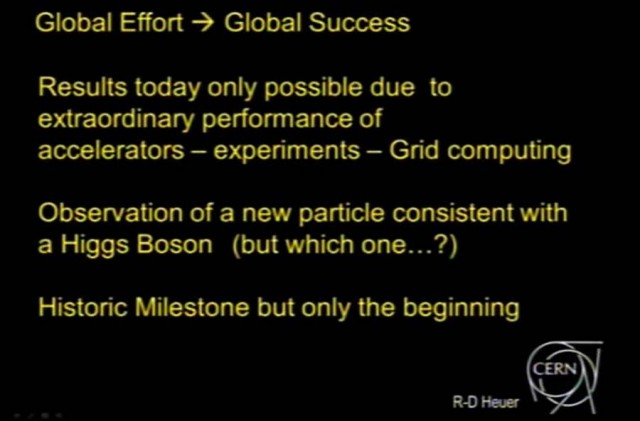Images from the announcement ceremony of the Higgs boson (4)
