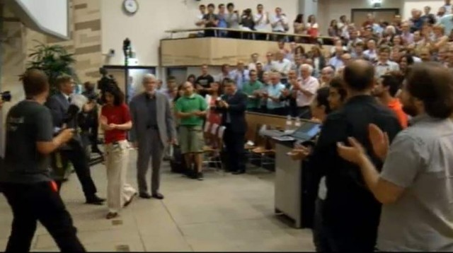 Images from the announcement ceremony of the Higgs boson (3)