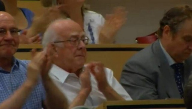 Images from the announcement ceremony of the Higgs boson (5)