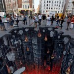 The Dark Knight Rises 3D Street Art