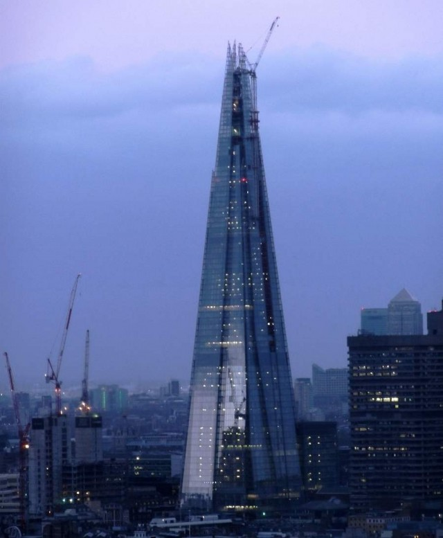 The Shard in London now complete