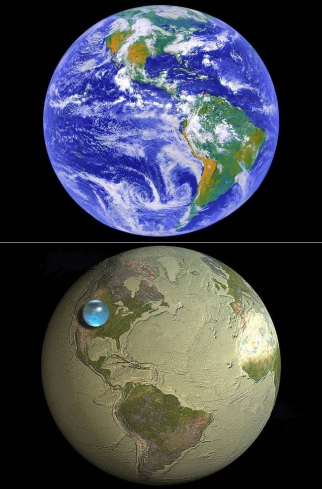 Why is Earth so dry