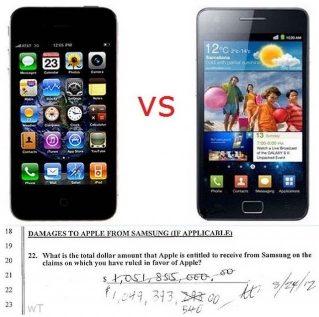 Apple vs. Samsung 1-0