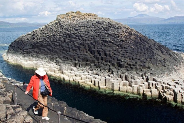 Basalt Columns off the Isle of Staffa, Scotland