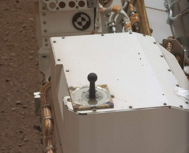 A sundial on Curiosity