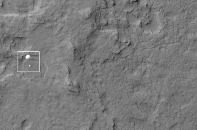 MRO has captured an impressive picture of the Curiosity