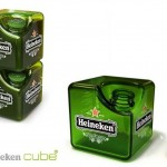 Heineken cubic bottle