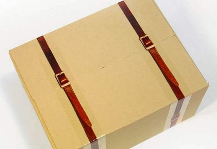 X-tape Leather Strap Packing