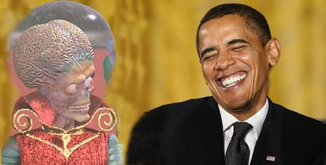 Obama to NASA- Let me know if you find Martians